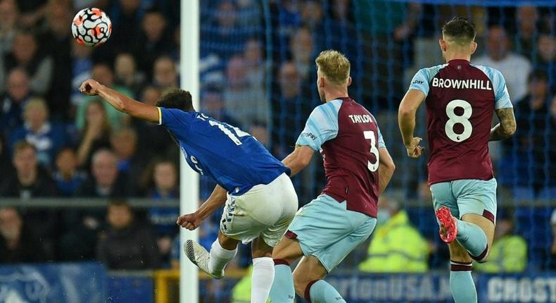 Wonder strike: Andros Townsend (left) put Everton in front Creator: Oli SCARFF