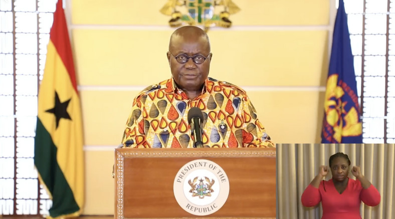 Anisuo, the name of Nana Addo's choice of cloth for his announcement of a partial lockdown in Ghana. It means drops of tears.