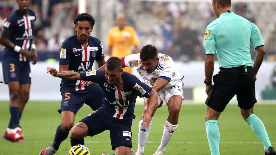 epa08577947 - FRANCE SOCCER LEAGUE CUP FINAL (Paris Saint Germain vs Olympique Lyon)