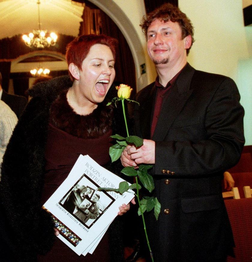 Dorota Wellman z mężem