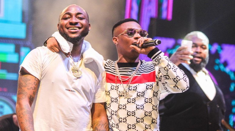 Wizkid, Davido's top Billboard sales charts. (Daily Post)
