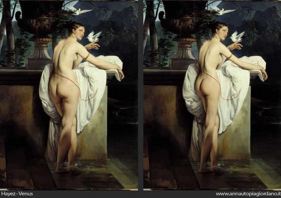 Venera Frančeska Ajeza iz 19. veka (levo) i iz 21. veka (desno)