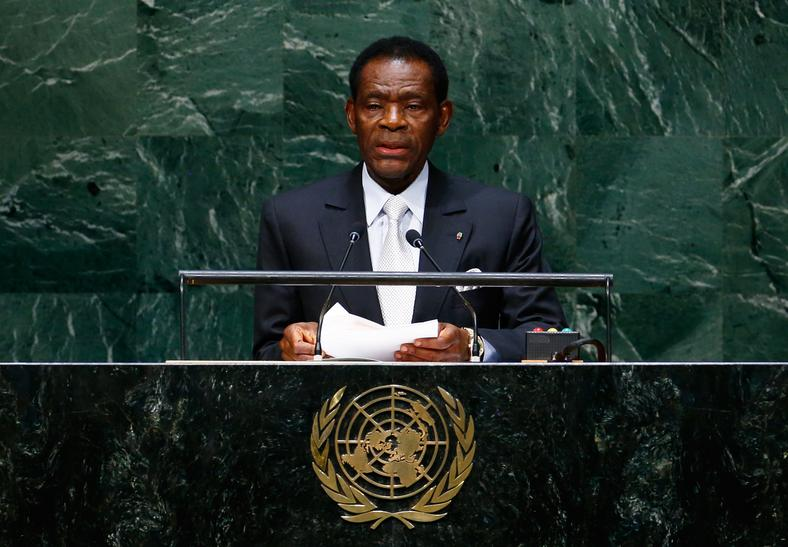 Equatorial Guinea's President Teodoro Obiang Nguema.