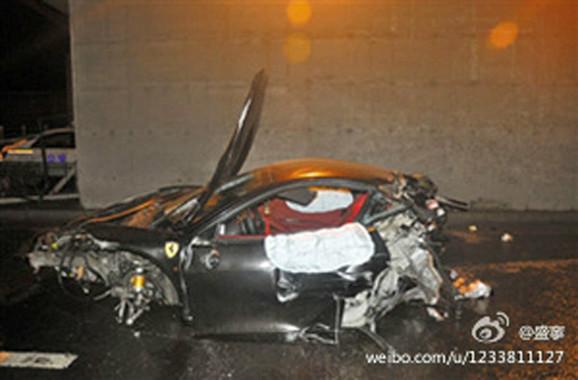 Olupina koja je izazvala politički skandal:Ostaci automobila Ling Gua
