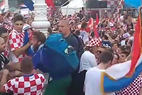 Stotine hiljade Hrvata slavilo, a onda je došao momak u DRESU FRANCUSKE i evo šta mu se desilo /VIDEO/