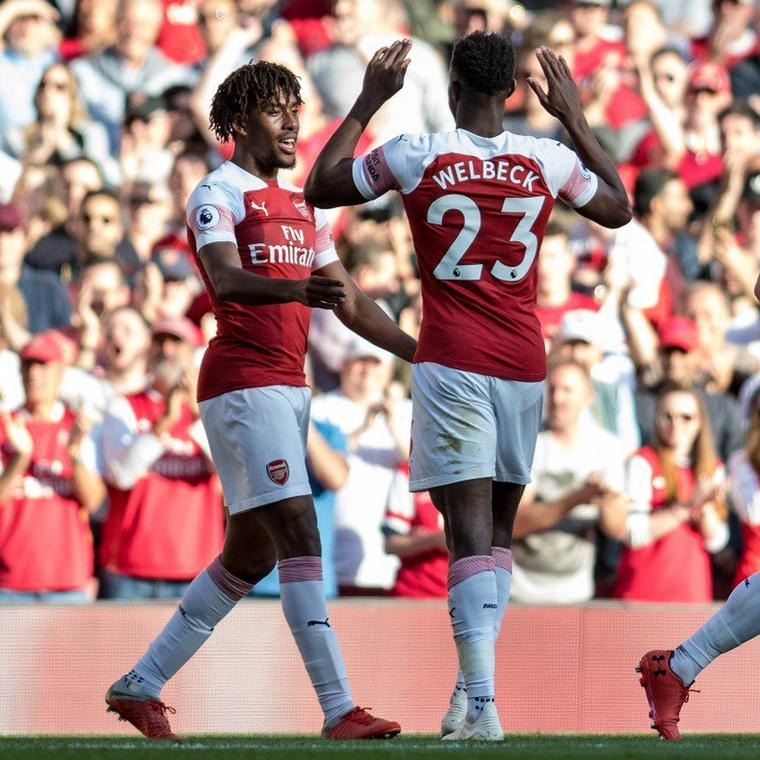 Alex Iwobi and Danny Welbeck