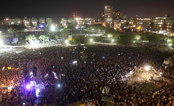Demonstracije u centru Tel Aviva