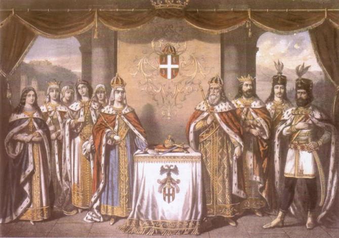 Car Lazar i njegova porodica, naslikao Pavle Čortanović 1860. godine