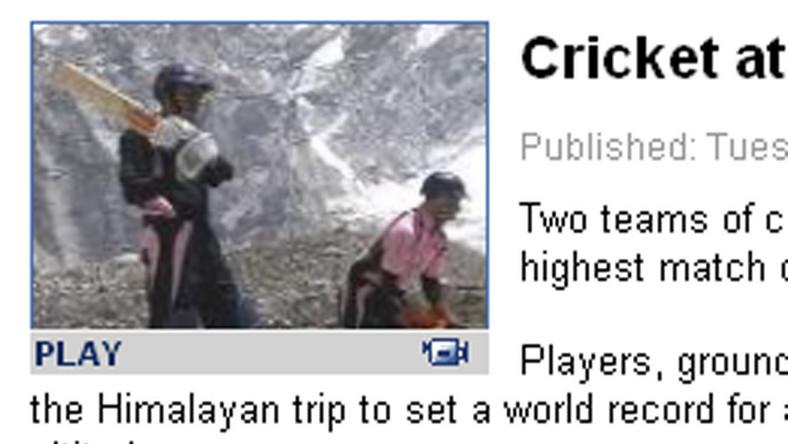 Zagrali w krykieta na szczycie Mount Everest