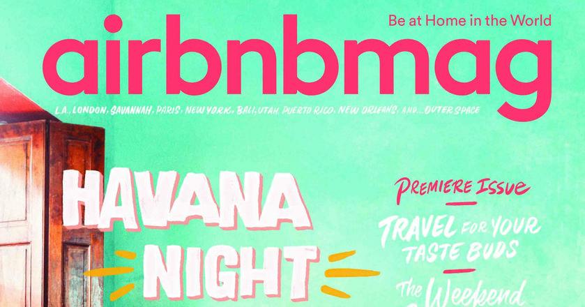 """Okładka pierwszego wydania """"Airbnbmag"""""""