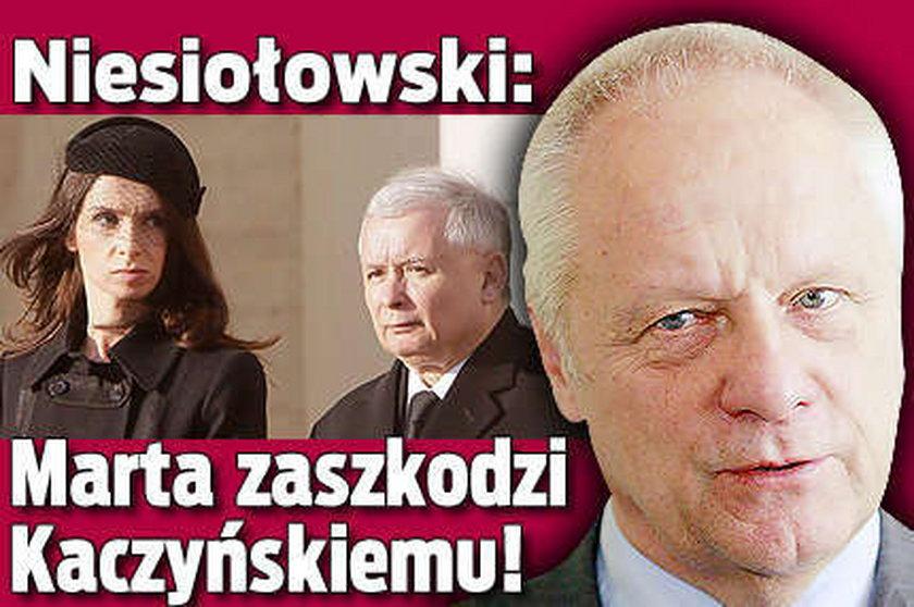 Niesiołowski: Marta zaszkodzi Kaczyńskiemu!