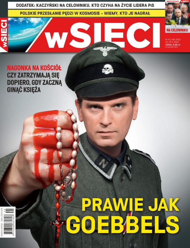 """Okładka magazynu """"W Sieci"""" z 13 października"""
