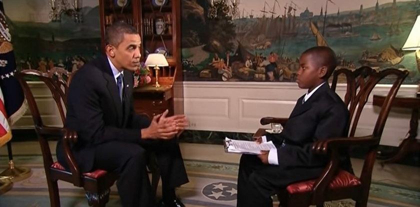 Nie żyje dziecięcy reporter. Damon Weaver przeprowadził słynny wywiad z Barackiem Obamą