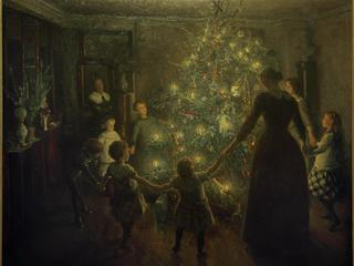 Happy Christmas / V. Johansen / Painting, 1891