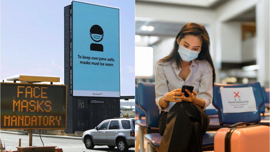 Wysoka kara za brak maski na lotnisku