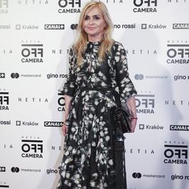 Monika Olejnik w świetnej sukni na festiwalu. Tylko te buty...