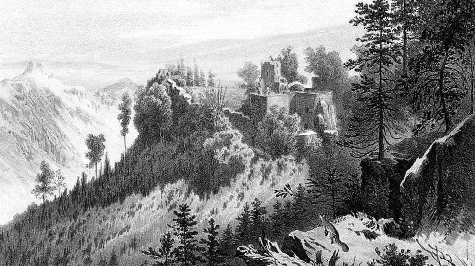 Ruiny Zamku Bolczów, początek XIX wieku