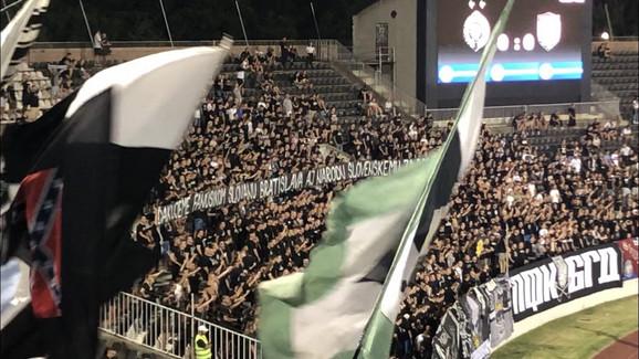 Navijači Partizana se zahvalili pristalicama Slovana iz Bratislave