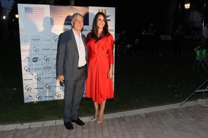 Tamara Vučić i američki ambasador Kajl Skot