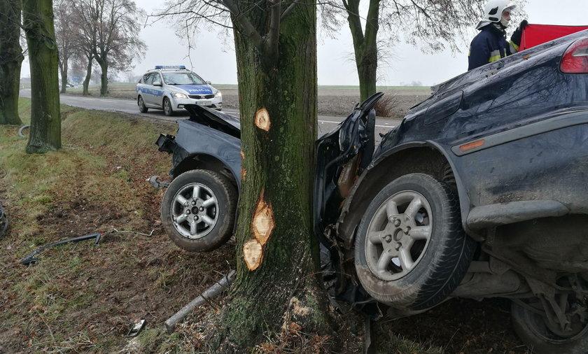 Śmiertelny wypadek pod Sieradzem. Kierowca wypadł z trasy i zginął. Ranny nastolatek