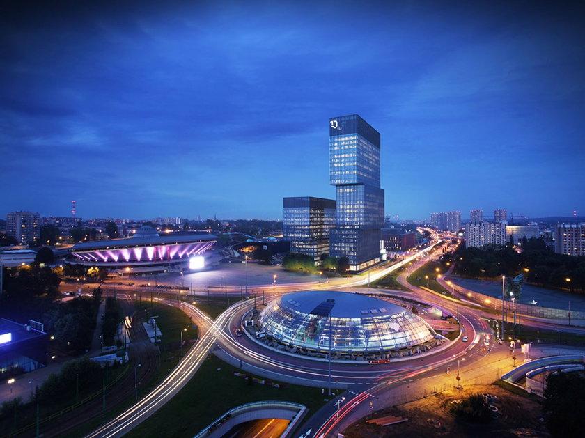 Katowice. Dwa nowe wieżowce przy Spodku