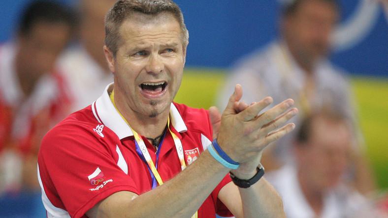 Trener polskiej reprezentacji Bogdan Wenta