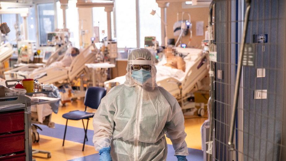 Oddział intensywnej terapii w jednym z rzymskich szpitali