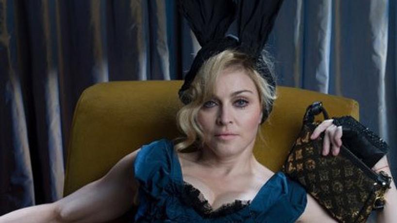 Madonna w reklamie Louis Vuitton - przed obróbką w photoshopie