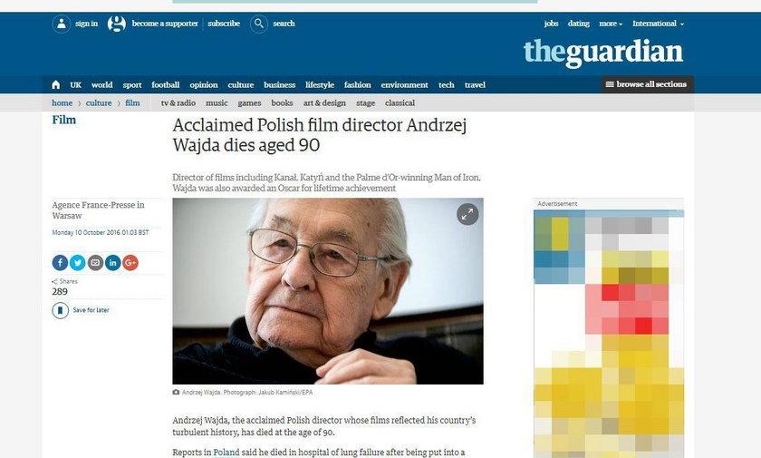Kondolencje po śmierci Andrzeja Wajdy