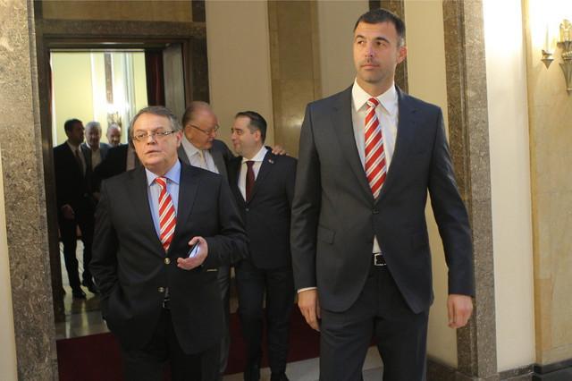 Prvi čovek Crvene zvezde Nebojša Čović i dosadašnji direktor kluba Davor Ristović