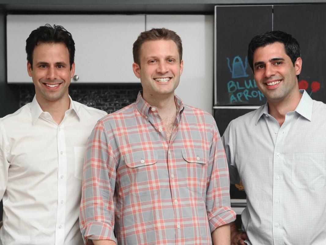 Matt Wadiak, Matt Salzberg i Ilia Papas, założyciele Blue Apron