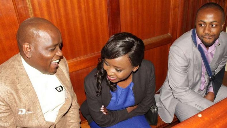Itumbi, Maribe and Jowie in court (Courtesy)
