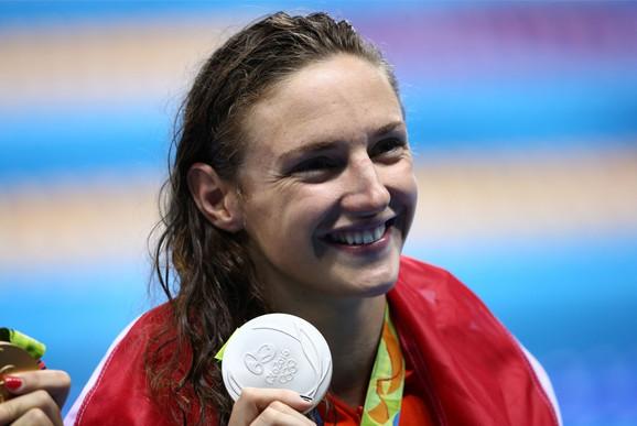 Plivačica Katinka Hosu, osvajačica tri olimpijska zlata za Mađarsku