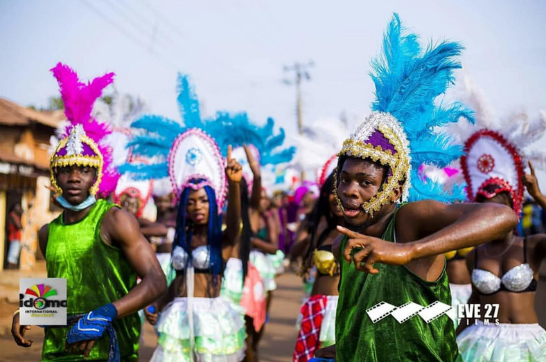 A cultural troupe at the Idoma International Carnival