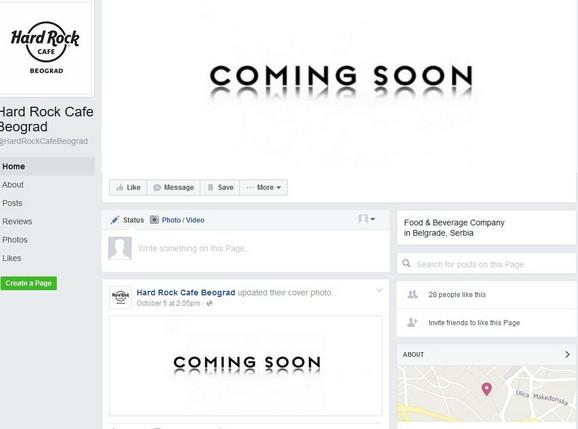Najava na fejsbuk stranici