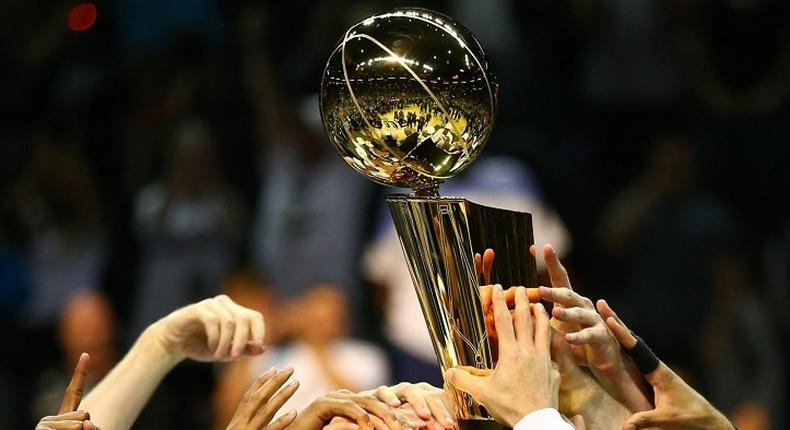 National Basketball Association (NBA) finals trophy. Teams to watch as 2021/2022 season begins