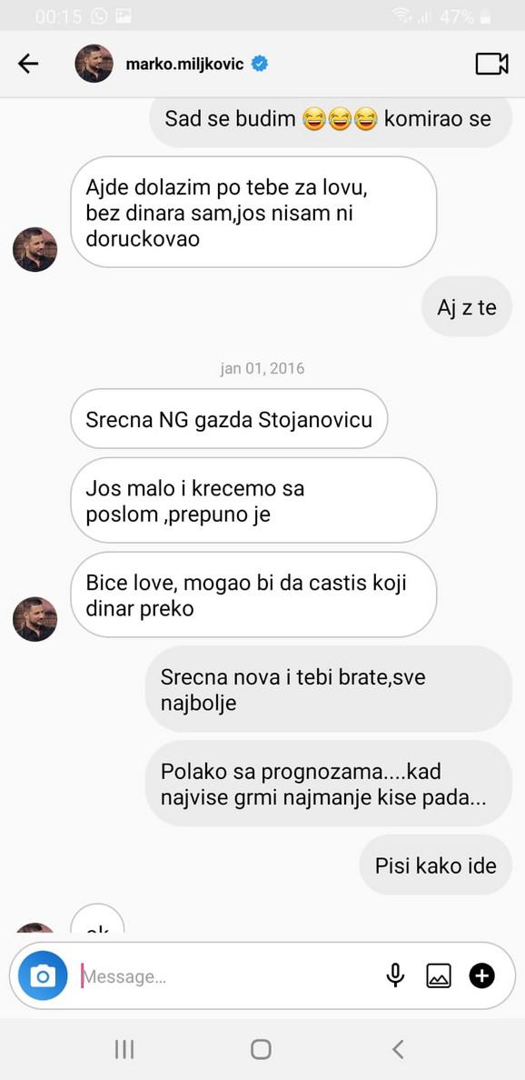 Marko Miljković i Manuel Stojanović prepiska