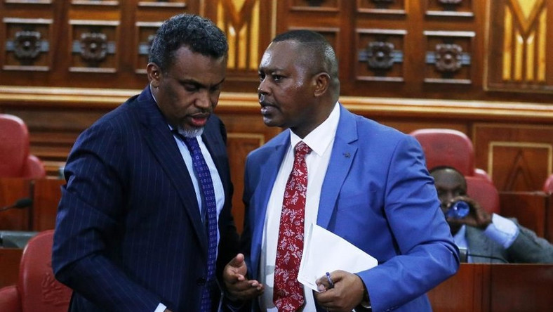 DPP Noordin Haji with DCI boss George Kinoti. The two are part of a multi-agency team investigating high level corruption cases