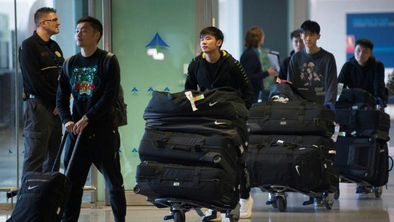 Wuhan Zall, the Chinese football team from the city at the centre of the outbreak, arrived at Malaga's Costa del Sol Airport on January 29