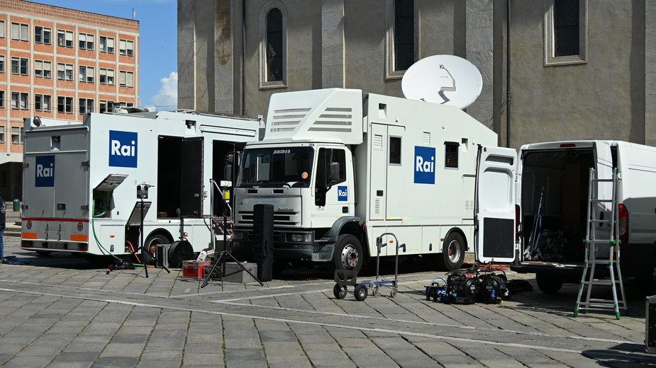 Samochody nadawcza włoskiej telewizji RAI