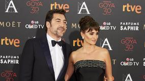 Penelepe Cruz i Javier Bardem na rozdaniu nagród Goya