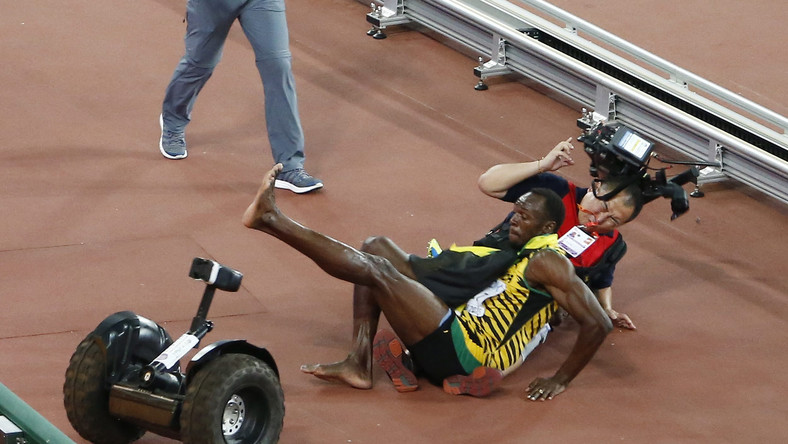 Usain Bolt obronił w Pekinie tytuł mistrza świata w biegu na 200 m.