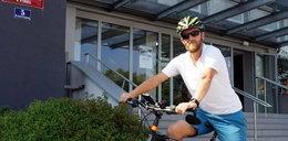 Policjant na rowerze zatrzymał porsche
