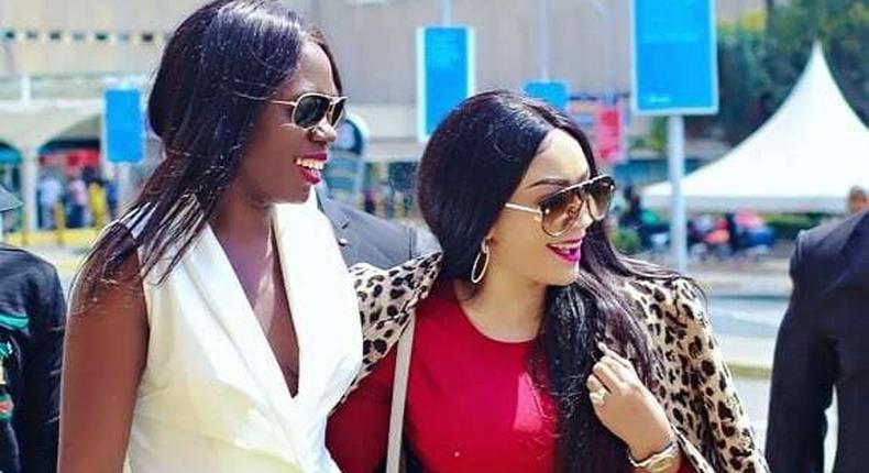 Zari Hassan with Akothee (Instagram)