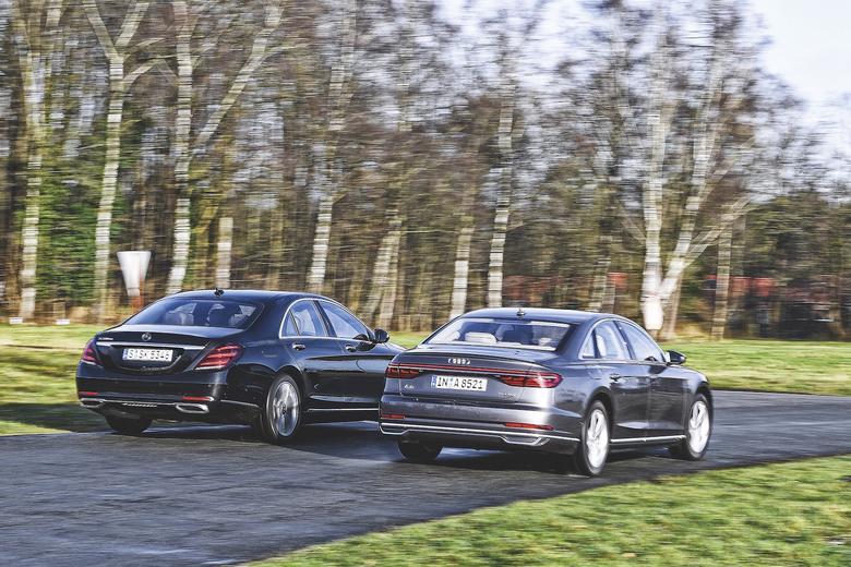 Audi A8 50 TDI kontra Mercedes S 350 d
