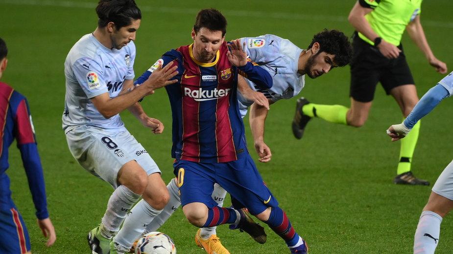 Leo Messi w meczu Barcelony z Valencią