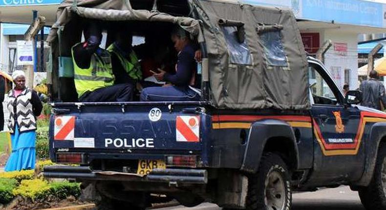 File image of a police vehicle Police officer arrested 2 years after he shot dead Leeds University student Carilton David Maina in Kibra