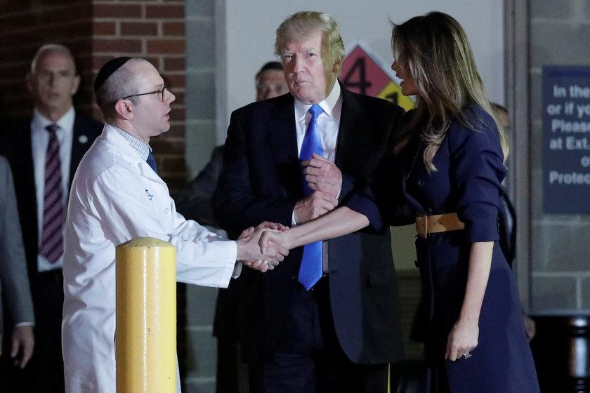 Trump odwiedził rannego kongresmana w szpitalu