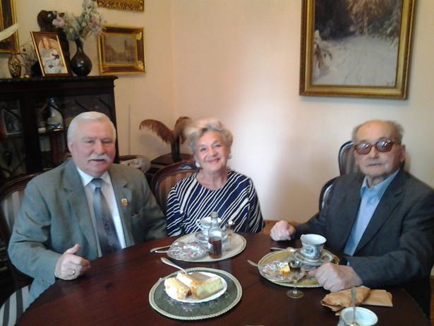 Lech Wałęsa z wizytą u Wojciecha Jaruzelskiego