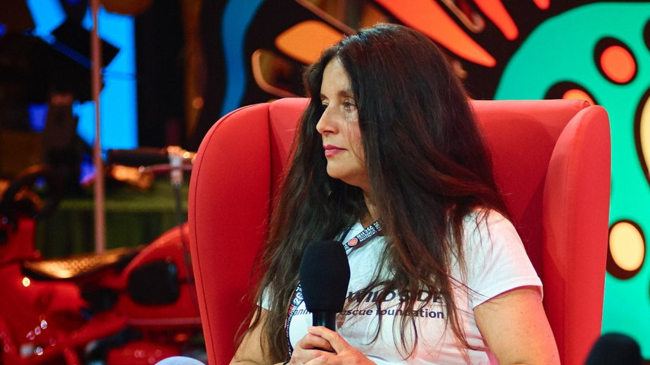 Ewa Zgrabczyńska podczas Pol'and'Rock 2020